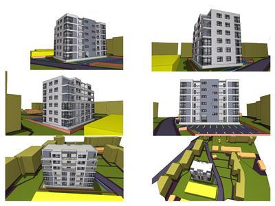 Teren+Proiect D+P+5 etaje, zona centrala cu PUZ si Autorizatii
