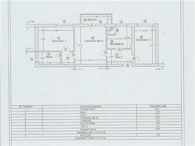 Apartartament 3 camere de vanzare  zona Centrala Tulcea
