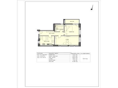 Apartament 2 camere  Bloc nou in zona 1848 Tulcea